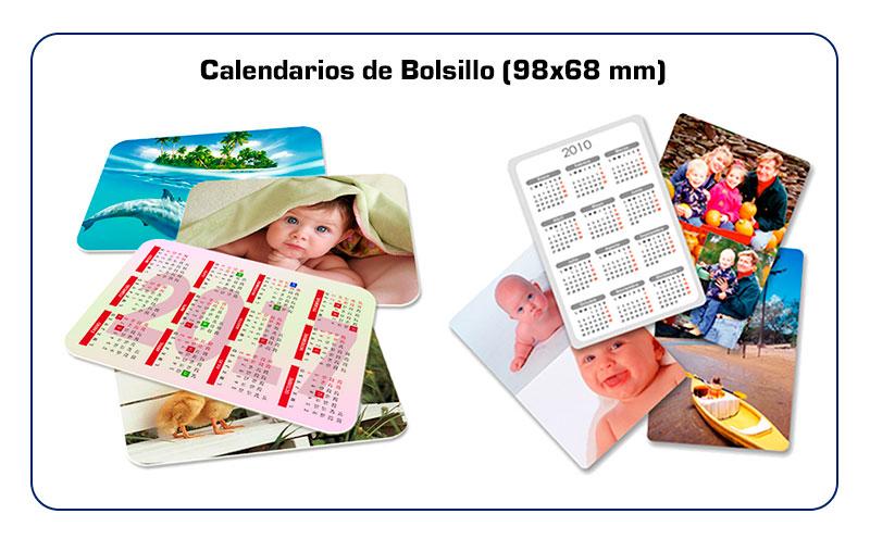 Tipos y ejemplos calendarios de bolsillo